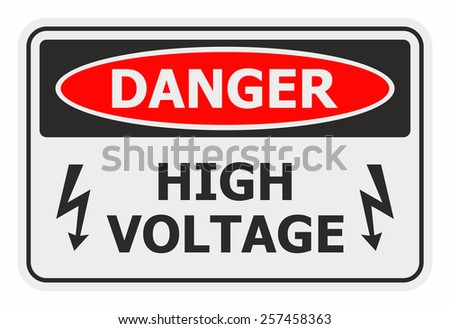 Danger High Voltage sign - stock vector