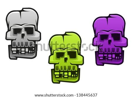 Danger monster or mutant skull for halloween design. Jpeg (bitmap) version also available in gallery - stock vector