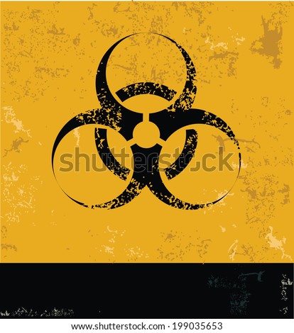 Danger,Nuclear symbol,grunge vector - stock vector