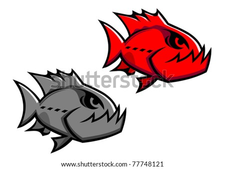 Danger piranha, such a logo. Jpeg version also available in gallery - stock vector