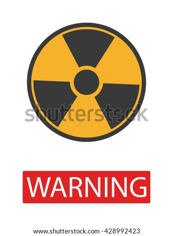 Danger radiation warning hazard symbols. Big set danger radiation sign vector illustrator. Danger radiation sign safety warning collection risk stop danger sign. Security toxic yellow triangle sign. - stock vector