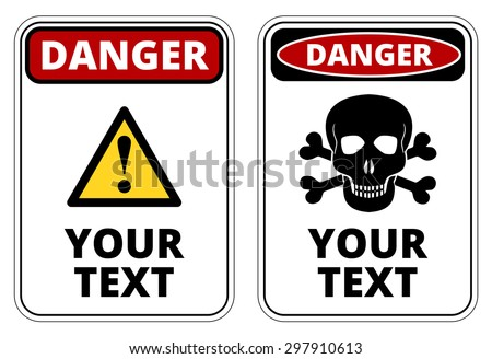 Stock Images similar to ID 60617026 - warning vector label ...