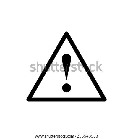 dangerous - black vector icon - stock vector