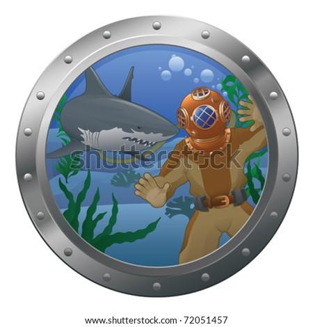 Dangerous Dive - vector - stock vector