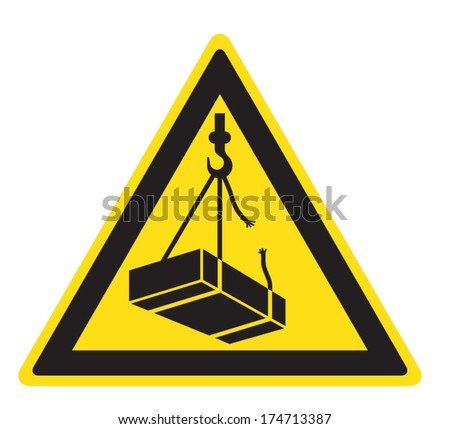 Dangerously. Possible falling of cargo. - stock vector