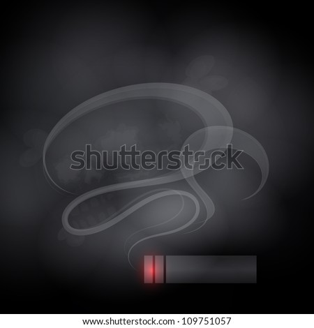 Dangers of Smoking (Illustration of smoking and its harmful effects) - stock vector