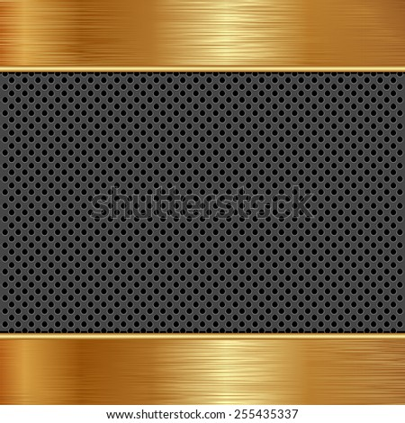 dark and gold background with texture - stock vector