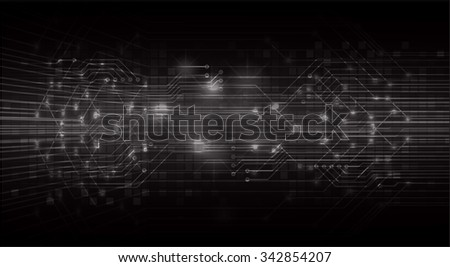 dark black color Light Abstract Technology background for computer graphic website internet and business.  - stock vector