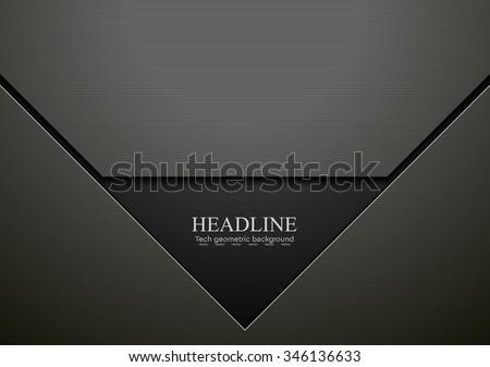 Dark black hi-tech corporate design. Vector graphic background - stock vector