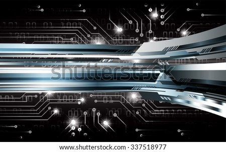 dark black illustration of technology internet network computer background with binary number, style. infographics. Information. motion blur. pixel. Binary digit. number. vector. silver - stock vector
