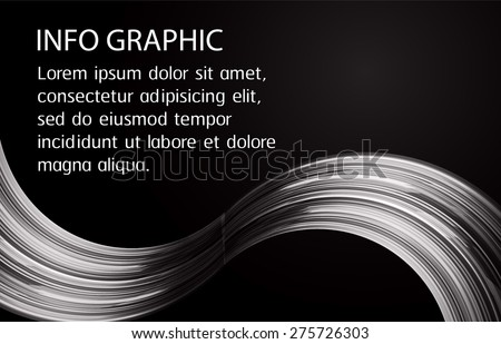 dark black Light Abstract Technology background computer graphic website internet and business. vector illustration. text box. Brochure. card. banner flyer magazine. Design label. wave - stock vector