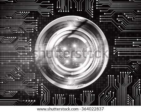 dark black Light Abstract Technology background for computer graphic website internet and business. circuit. illustration.digital.infographics. binary code. zero one.eye vector - stock vector