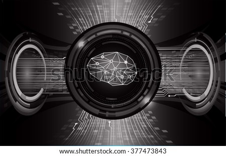 Dark black Light Abstract Technology background for computer graphic website internet business. circuit. vector illustration. infographics. motion move blur.neon. Brainstorm, Brain. Bulb Ideas - stock vector