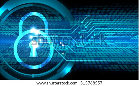 dark blue Abstract digital conceptual technology security background with lock. computer technology website internet web. infographics. lock, key, Padlock - stock vector
