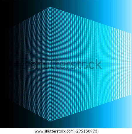 Dark blue Abstract light lamps background for Technology computer graphic website internet and business.. Screen on stage. Vector illustration. Spot Effect. neon. point. dot - stock vector