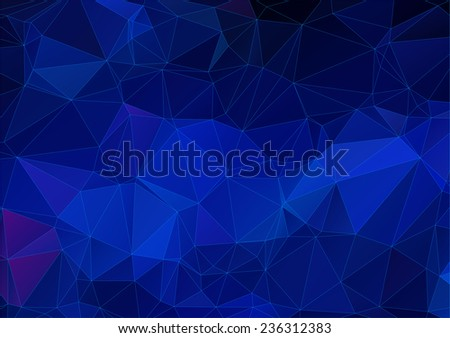 Dark blue abstract polygonal background - stock vector