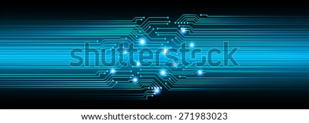 dark blue color Light Abstract Technology background for computer graphic website internet and business. circuit. vector illustration. star - stock vector
