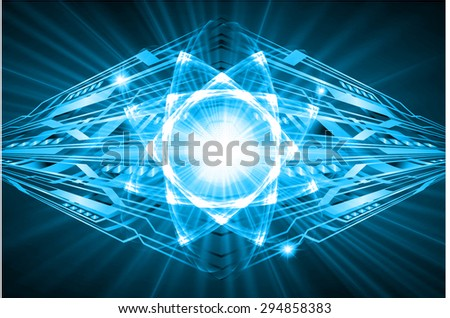 dark blue color Light Abstract Technology background for computer graphic website internet and business.circuit. vector illustration. Security. Nuclear, proton, neutron, nucleus. atom. molecular.Spark - stock vector