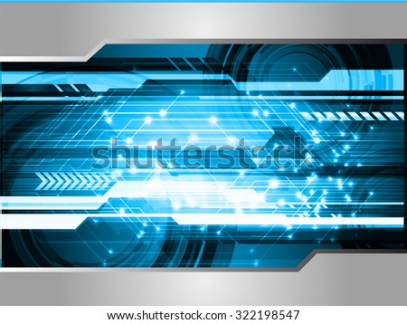 Dark blue color Light Abstract Technology background for computer graphic website internet and business. circuit. vector illustration. infographics. motion move blur.neon. pixel. - stock vector