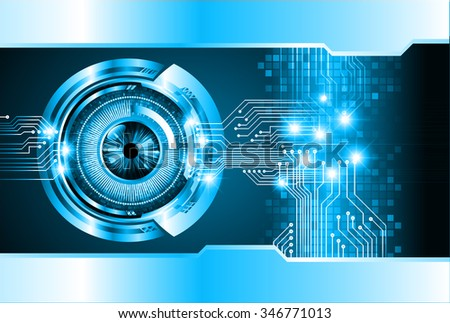 dark blue color Light Abstract Technology background for computer graphic website internet and business. circuit. illustration. digital. infographics. binary code background. eye - stock vector