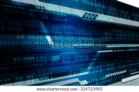 dark blue color Light Abstract Technology background for computer graphic website internet business. circuit. illustration. digital. infographics. binary code. www. vector.one. zero. aura ray - stock vector