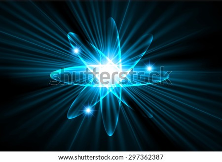 Dark blue color Light Abstract Technology background for computer graphic website internet.circuit. vector illustration.Nuclear,proton,neutron,nucleus. atom. molecular.Spark ray beam aura - stock vector