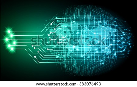 dark blue green Light Abstract Technology background for computer graphic website internet and business.circuit.illustration.digital.infographics.binary code. www.vector.motion move blur. World map. - stock vector