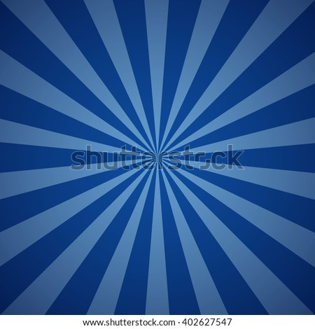 Dark blue grunge sunbeam background. Sun rays abstract wallpaper. Vector illustration - stock vector