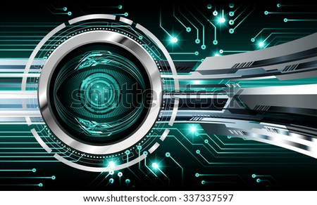 dark blue illustration of technology internet network computer background with binary number, style. infographics. Information. motion blur. pixel. Binary digit. number. vector. silver eye - stock vector