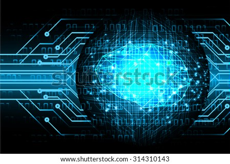 Dark blue Light Abstract Technology background for computer graphic website internet business. circuit. vector illustration. infographics. motion move blur.neon. Brainstorm, Brain. Ideas - stock vector