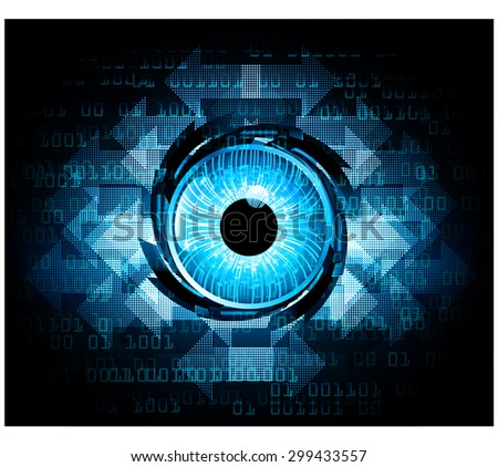dark blue Light Abstract Technology for computer graphic website internet. circuit.illustration.digital.infographics.binary code background. www. vector.ray beam aura motion move blur. one zero.eye - stock vector