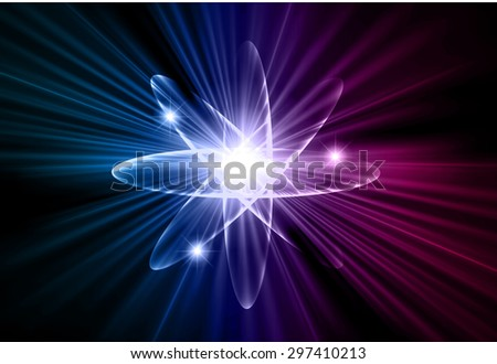 Dark blue purple color Light Abstract Technology background for computer graphic website internet.circuit. vector illustration.Nuclear,proton,neutron,nucleus. atom. molecular.Spark ray beam aura - stock vector