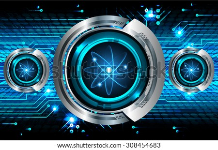 Dark Blue Shining atom scheme. Vector illustration. dark background. digital. infographics. Abstract Technology background for computer graphic website internet and business. Spark - stock vector
