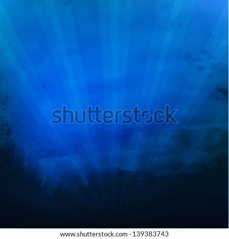 Dark Blue Texture With Sunburst With Gradient Mesh, Vector Illustration - stock vector