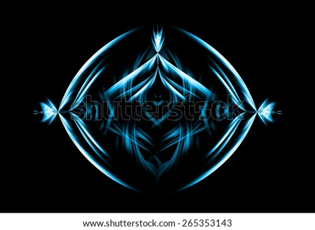dark blue yellow pink color Light Abstract Technology background for computer graphic website internet and business. black background. - stock vector