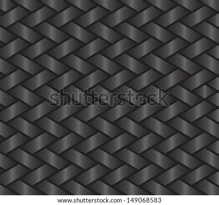 dark gray background showing a ribbon or basket style weave - stock vector