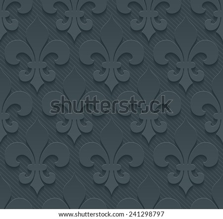 Dark gray perforated paper with cut out effect. See others in a Perforated Paper Set. Vector EPS10. - stock vector