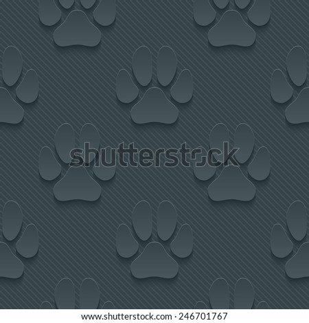 Dark gray perforated paper with cut out effect. Vector EPS10. See others in My Perforated Paper Set. - stock vector