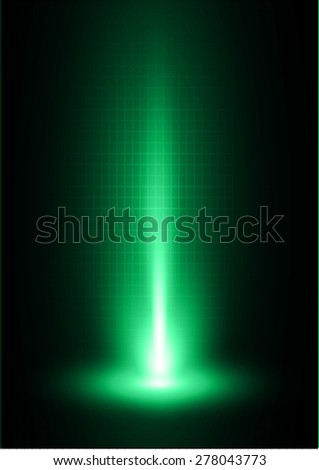 Dark green light Abstract background, rays. stage  - stock vector