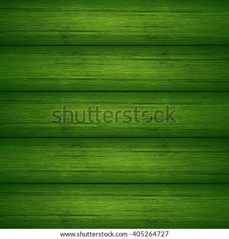 Dark green wooden planks texture. Vector illustration for your design - stock vector