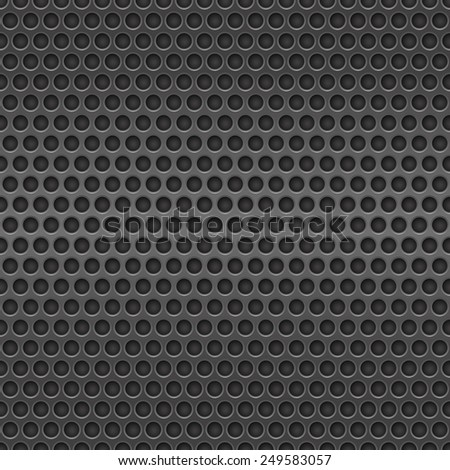 Dark metal cell seamless background  - stock vector
