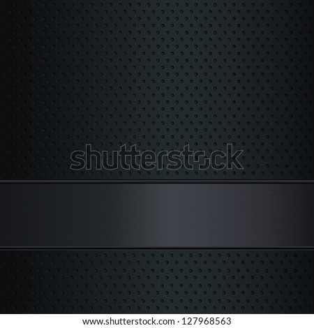 Dark metallic background with copy space - stock vector