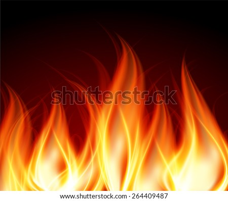 Dark orange red Abstract fire background.  - stock vector