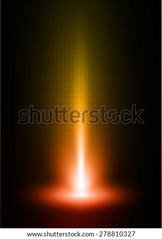 Dark orange red light Abstract background, rays. stage. infographics. - stock vector