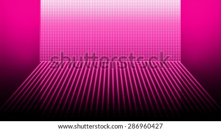 Dark pink Abstract light lamps background for Technology computer graphic website internet and business.. Screen on stage. Vector illustration.Spot Effect. neon. point, platform, Spotlights - stock vector