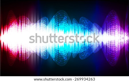 dark pink blue purple abstract digital sound wave background. Light Technology background for computer graphic website internet. - stock vector