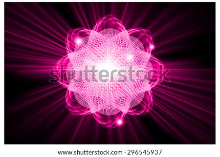 dark pink color Light Abstract Technology background for computer graphic website internet.circuit. vector illustration. Nuclear,proton,neutron, nucleus. atom. molecular.Spark ray beam aura - stock vector