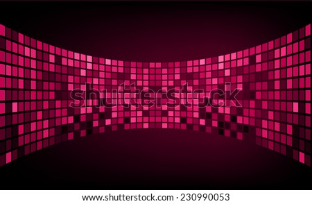 Dark pink Vector abstract design. pixels mosaic background computer graphic website and internet. - stock vector