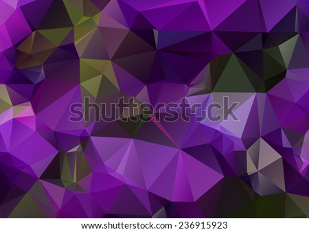 Dark purple abstract polygonal background - stock vector