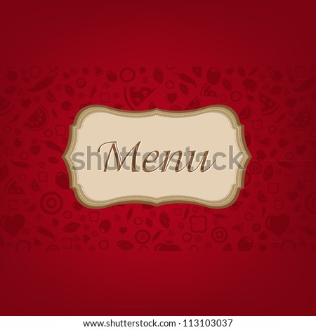 Dark Red Background With Menu, Vector Illustration - stock vector